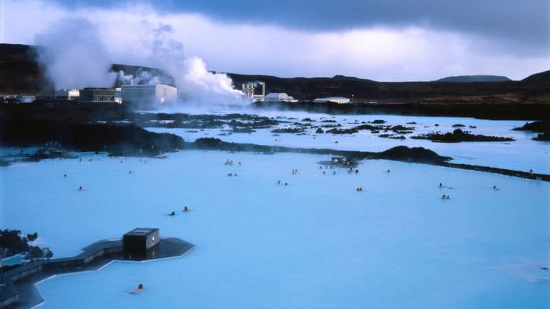 Scenic view of the Blue Lagoon