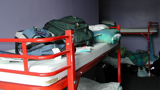 Bunkbeds in a hostel