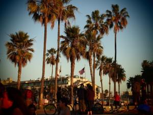 LA American flag Venice Beach
