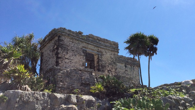 One of the Mayan ruins at Tulum